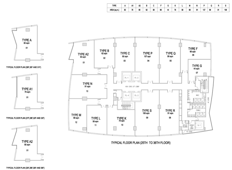 Floor Plan 25 to 36 Offices