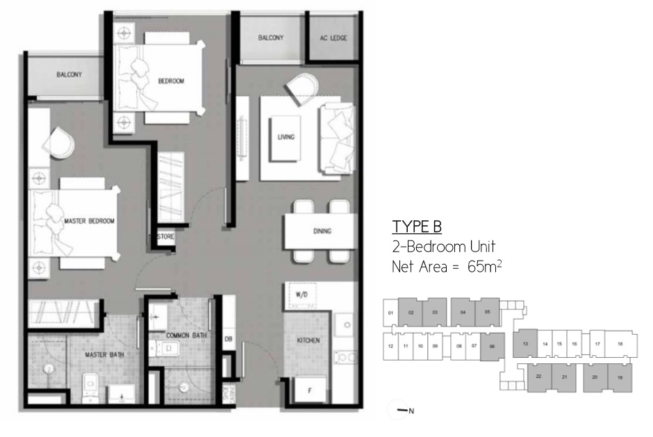 Floor Plan Type B Residential