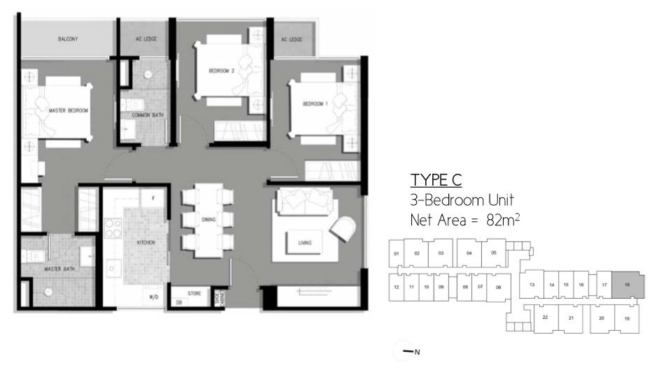 Floor Plan Type C Residential