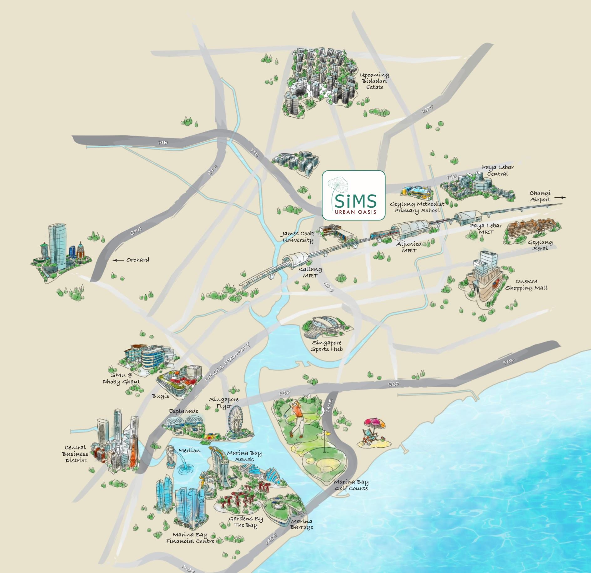 Sim Oasis Map