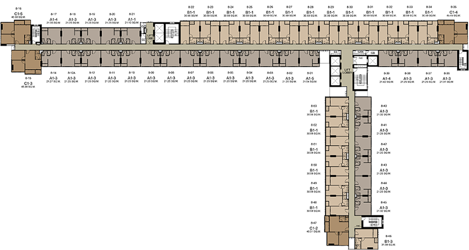 8th - 18th Floors