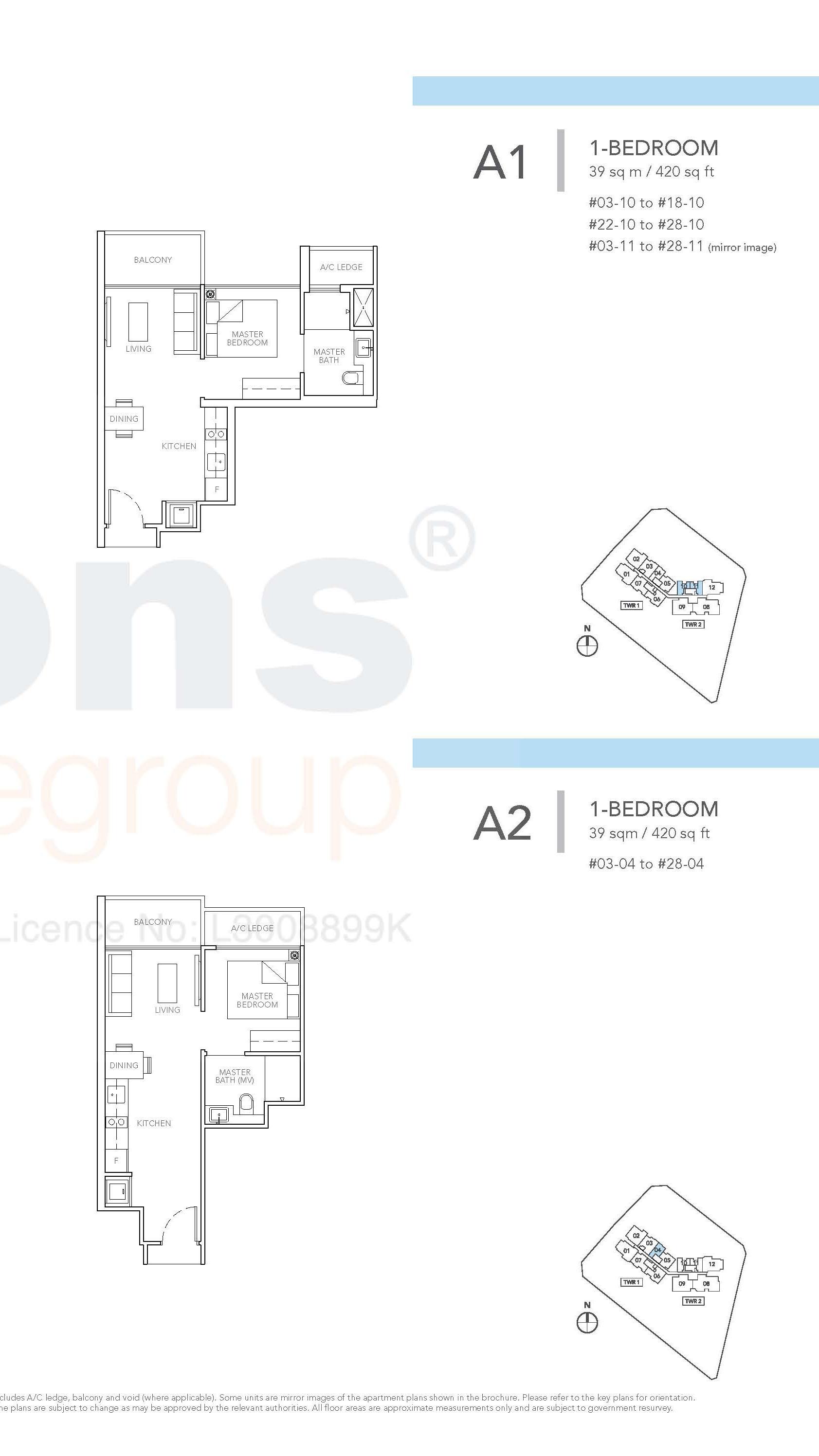 Type A1 & A2 Floor Plan