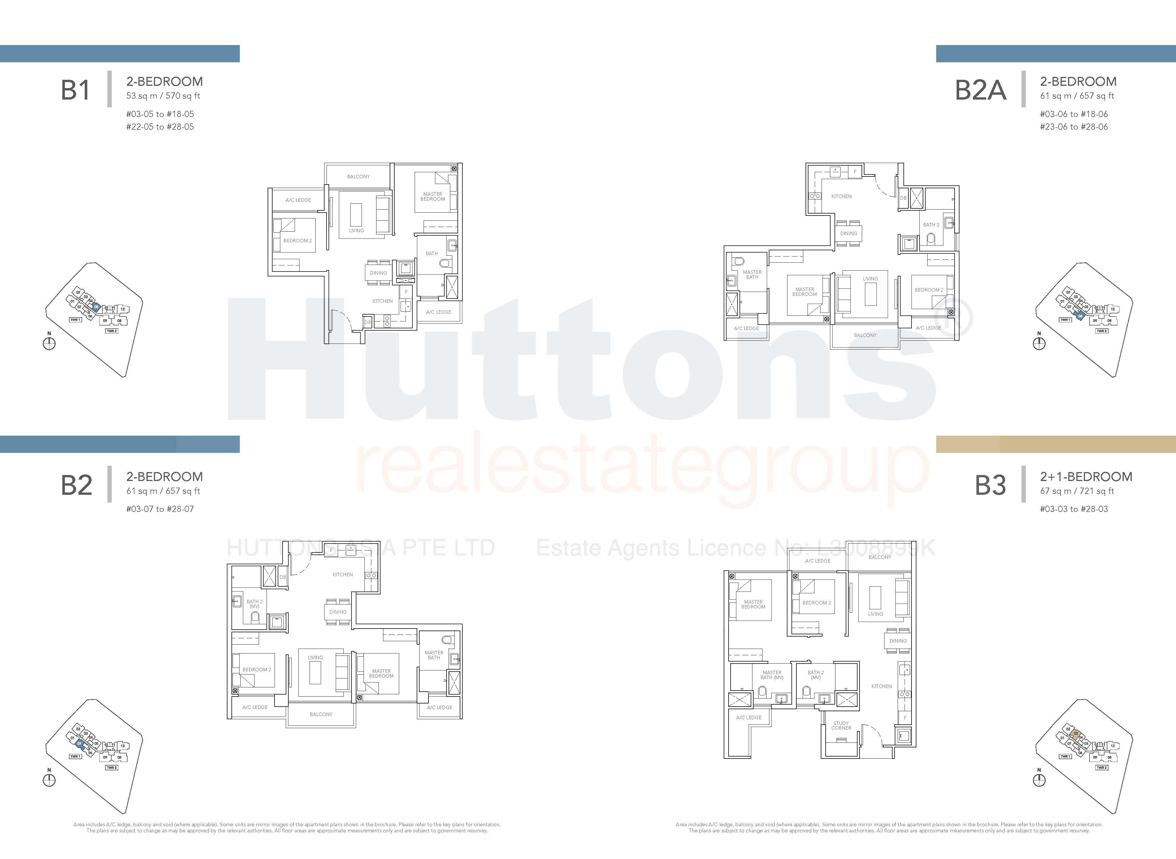 Type B1, B2 & B3 Floor Plan