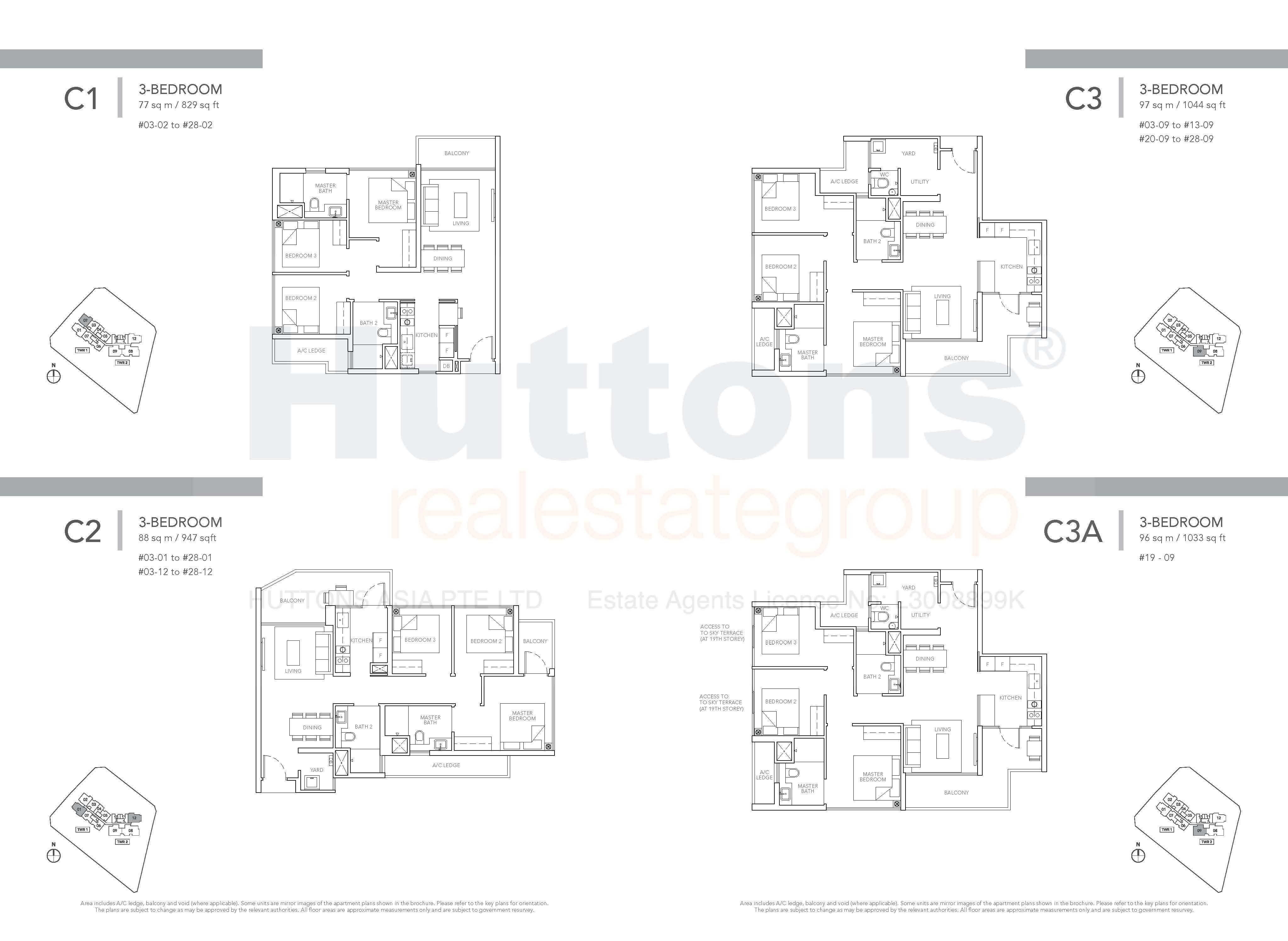 Type C1, C2 & C3 Floor Plan