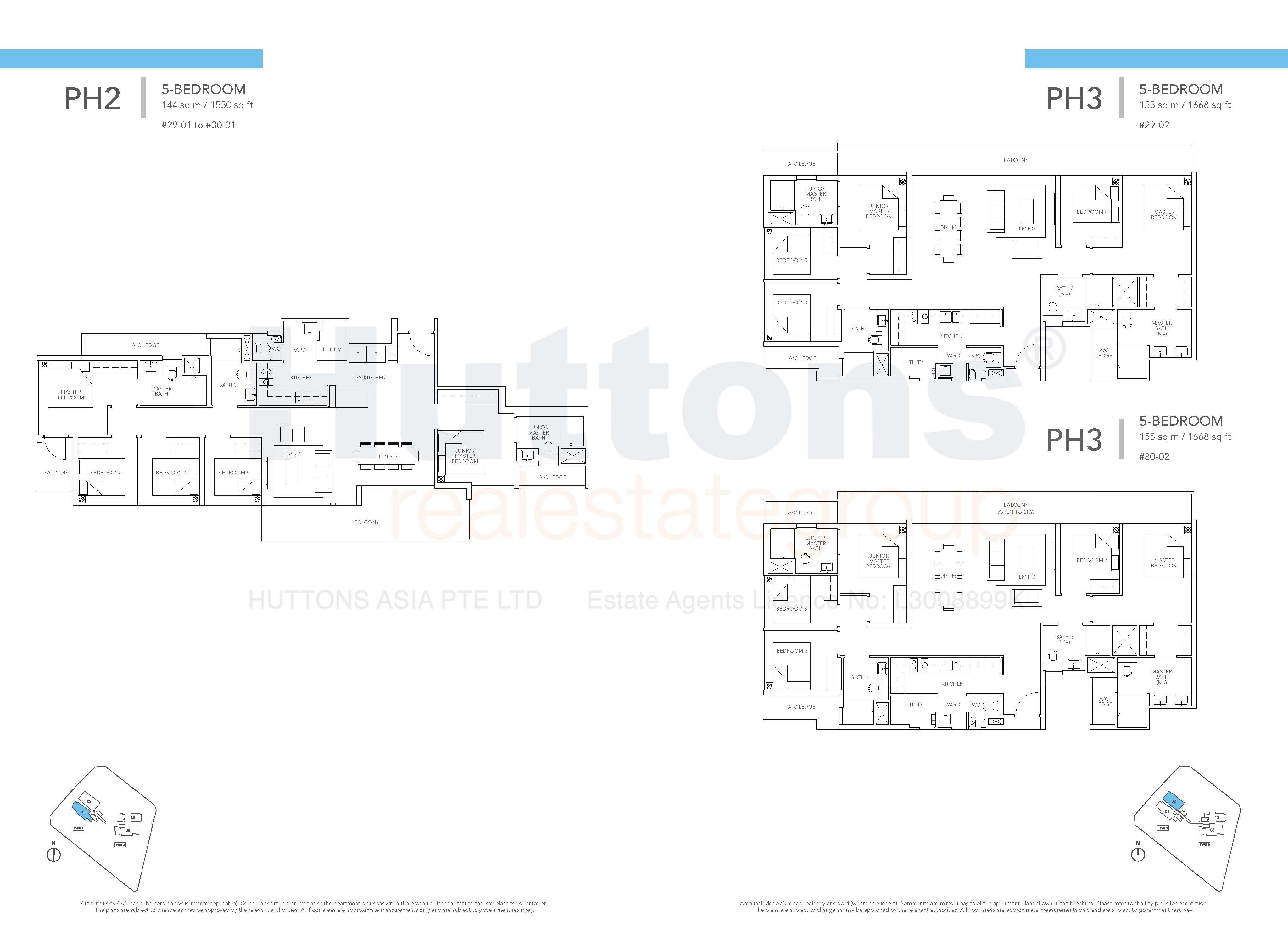 Type PH2 & PH3 Floor Plan