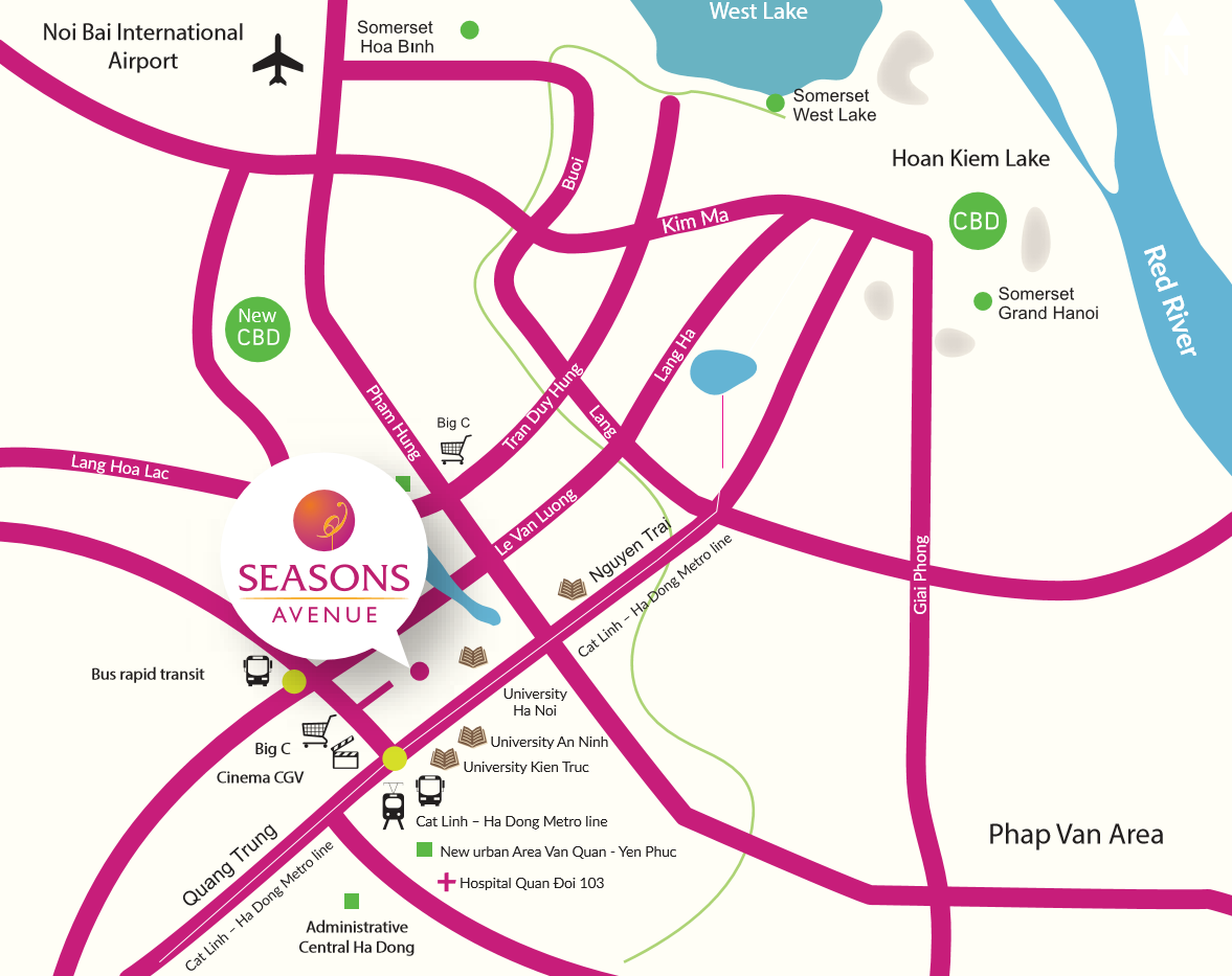 Seasons Ave Map
