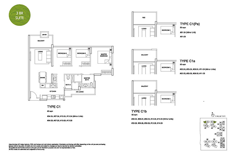 3 Bedroom Type C1