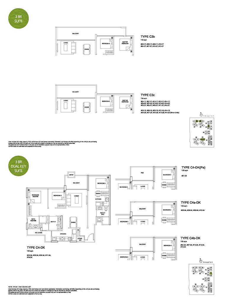 3 Bedroom Type C3 & C4 Dual Key