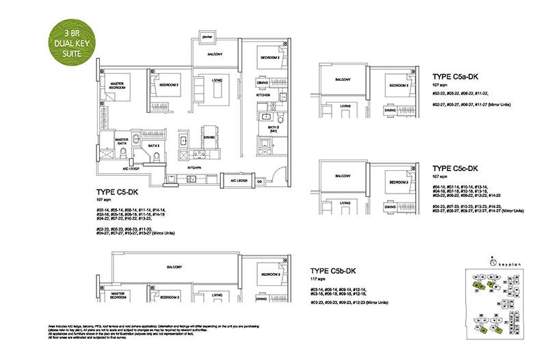 3 Bedroom Type C5 Dual Key