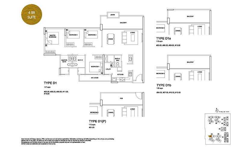 4 Bedroom Type D1