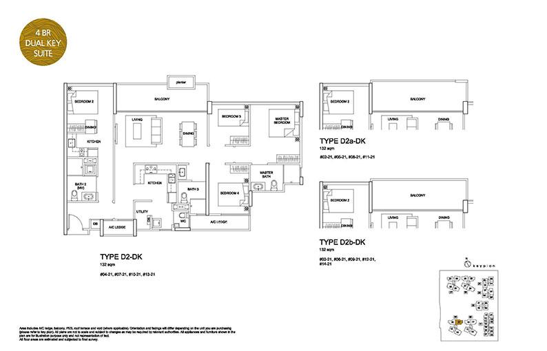 4 Bedroom Type D2 Dual Key