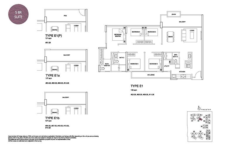 5 Bedroom Type E1