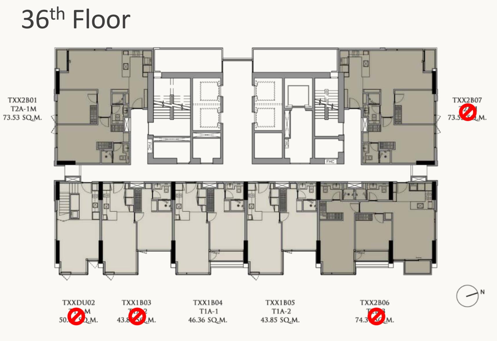 28 Chidlom Floorplan 36