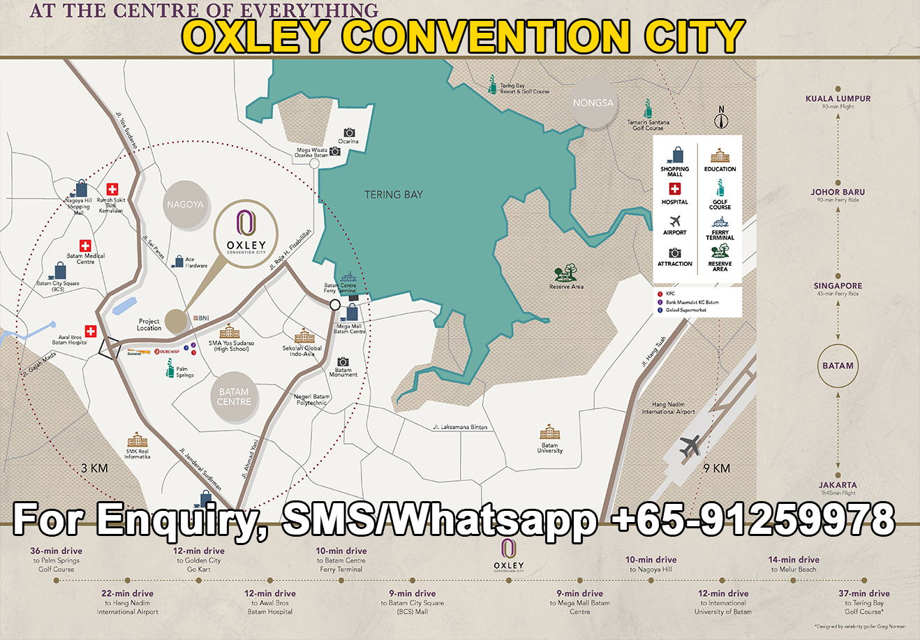 Oxley Convention City Location