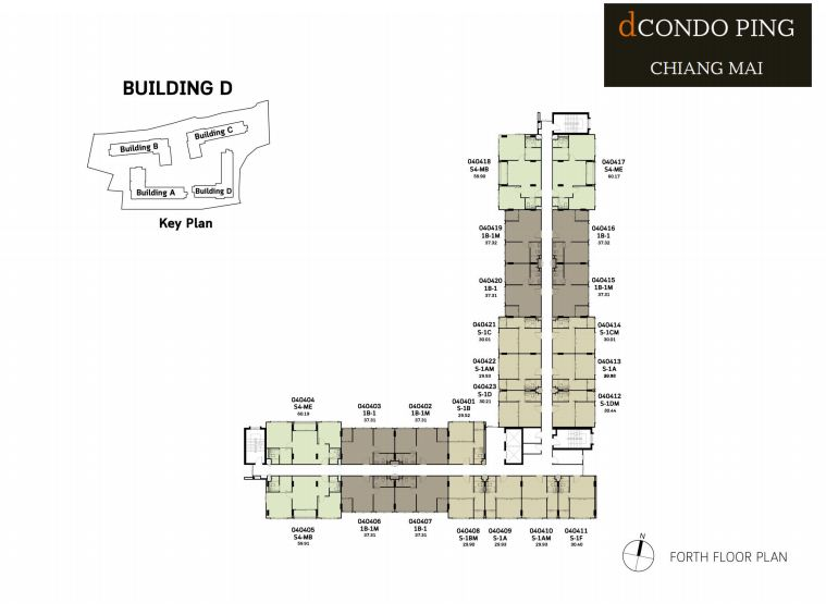dCondo Ping Fourth Floor Plan