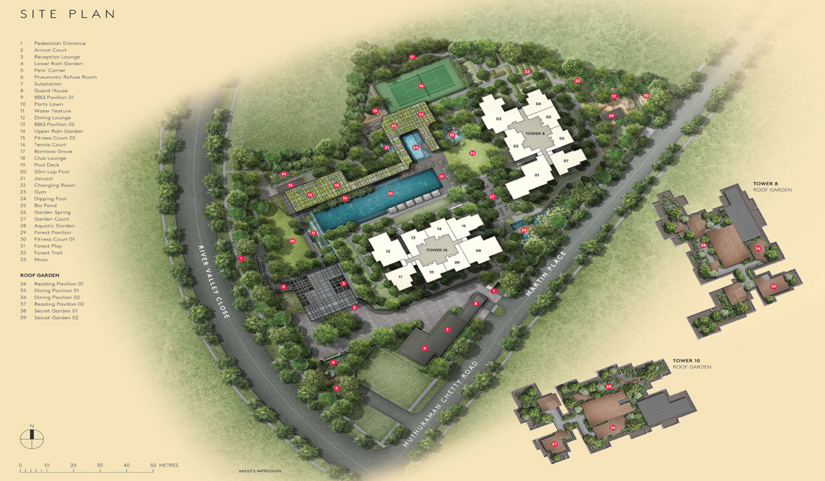 Martin modern luxe botanical garden home in district 9 for Modern site plan