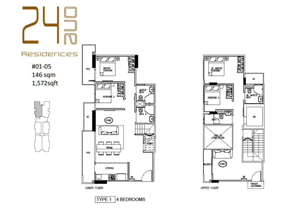 24 One Residences Type 1 4 Bedroom