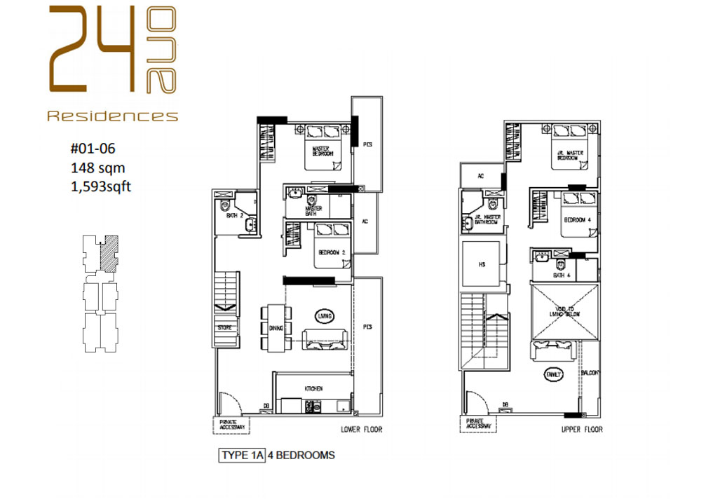 24 One Residences Type 1A 4 Bedroom