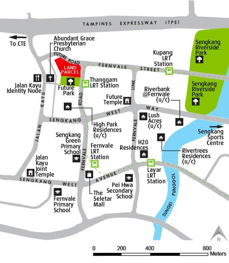 Parc-Botania-Fernvale-Road-Location-Map