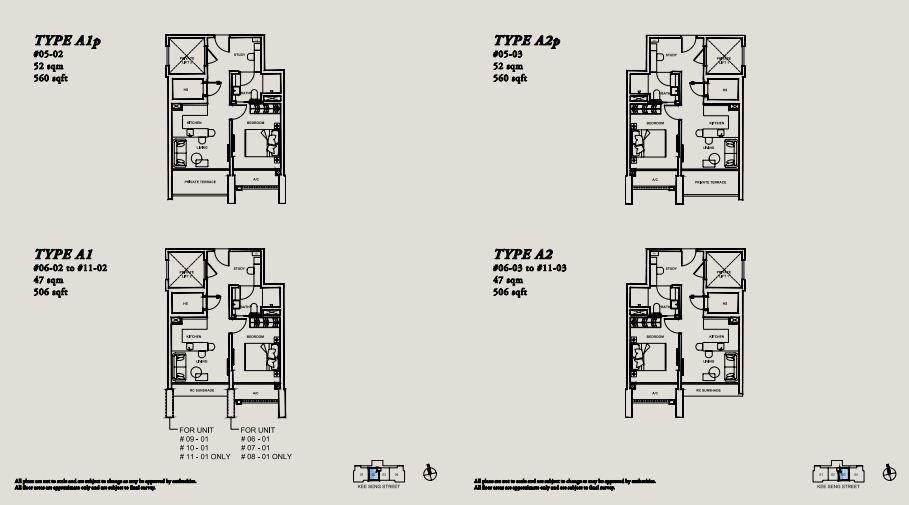 Floor Plan TYPE A1p | TYPE A2p | TYPE A1 | TYPE A2