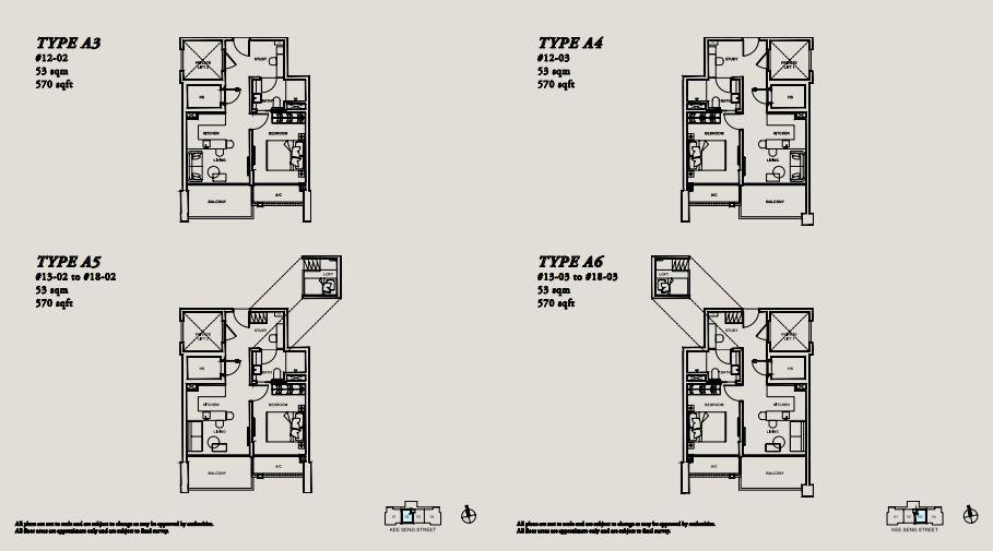 Floor Plan TYPE A3 | TYPE A4 | TYPE A5 | TYPE A6