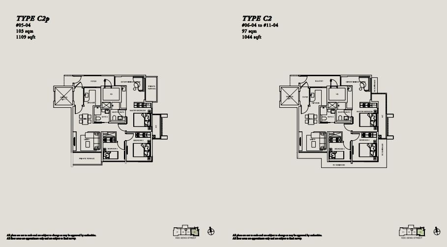Floor Plan TYPE C2p | TYPE C2