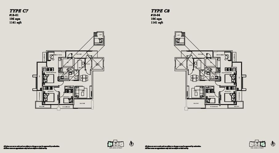Floor Plan TYPE C7 | TYPE C8