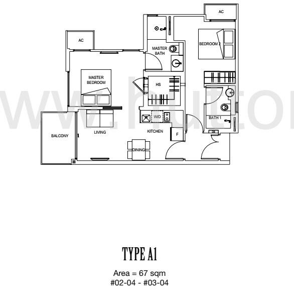Carpmael 38 Floor Plan Type A1