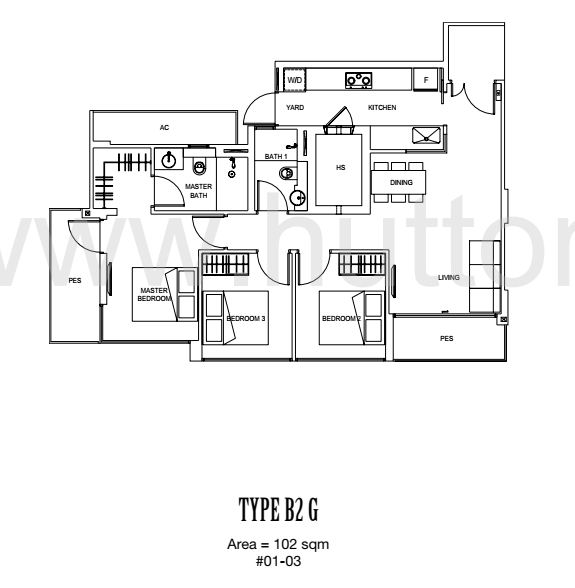 Carpmael 38 Floor Plan Type B2G