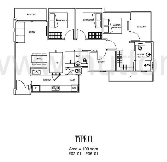 Carpmael 38 Floor Plan Type C1
