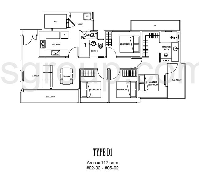 Carpmael 38 Floor Plan Type D1