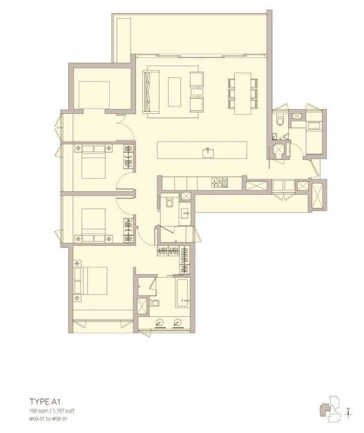 Admore Three Floor Plan Type A1