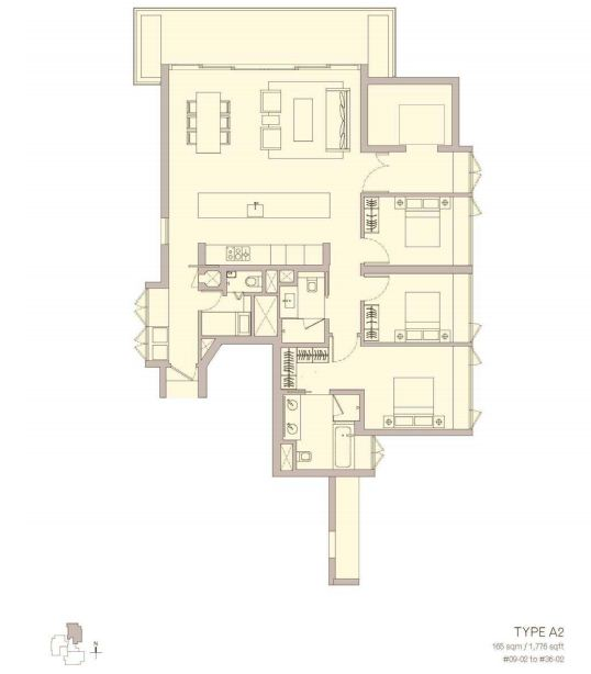 Admore Three Floor Plan Type A3