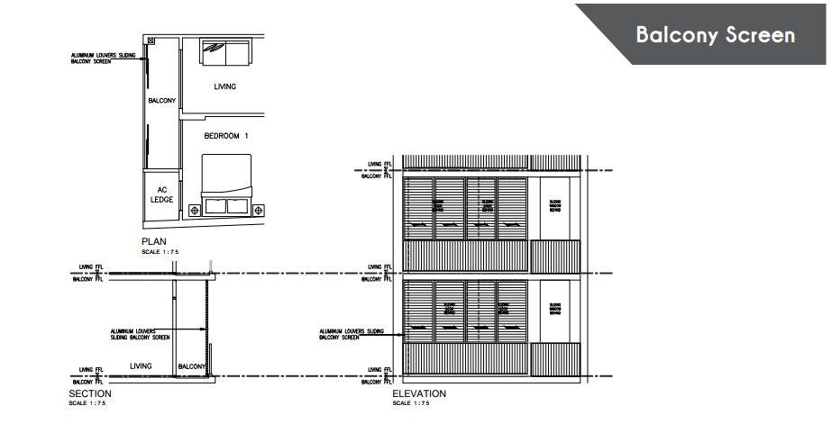 Floor Plan Balcony Screen