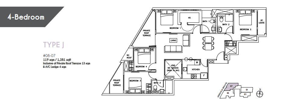 Floor Plan Type J