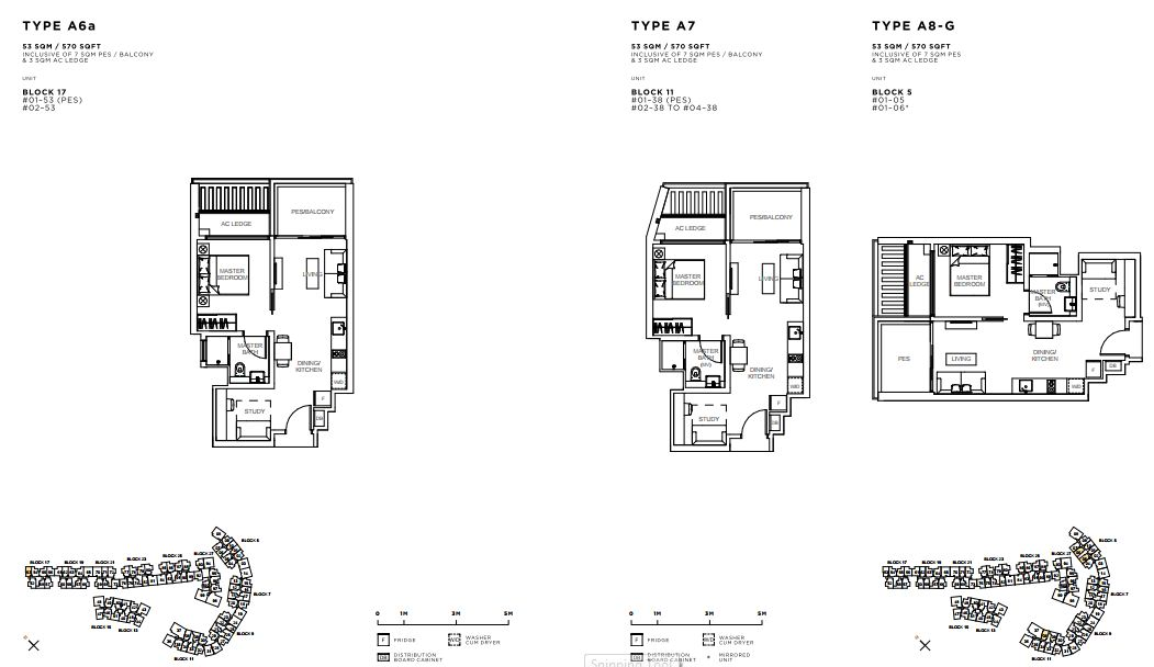 Floor Plan 1 Bed Room+ Study