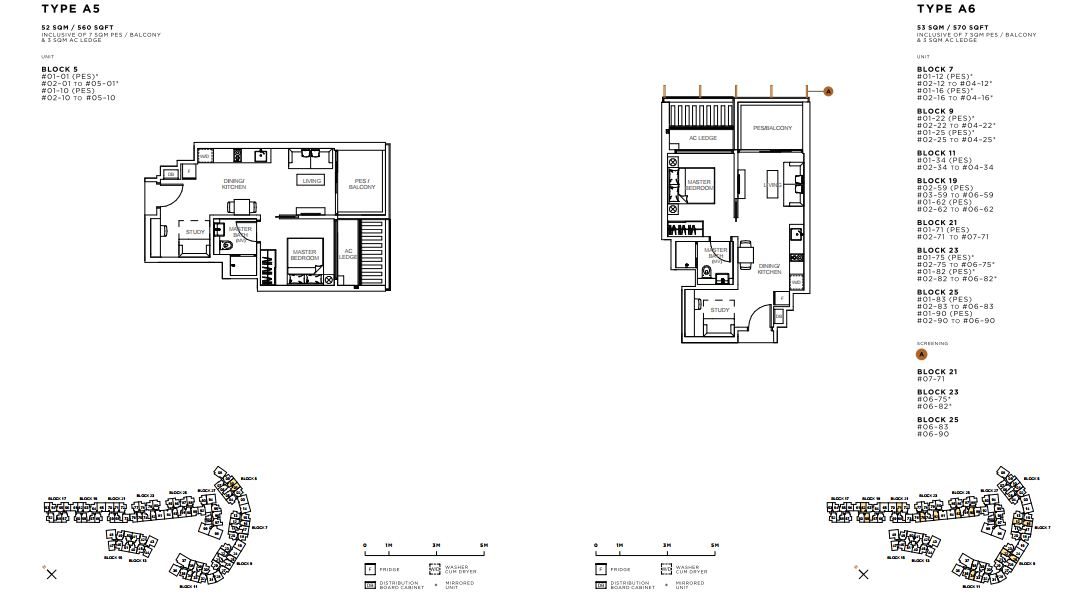 Floor Plan 1 Bed Room+Study