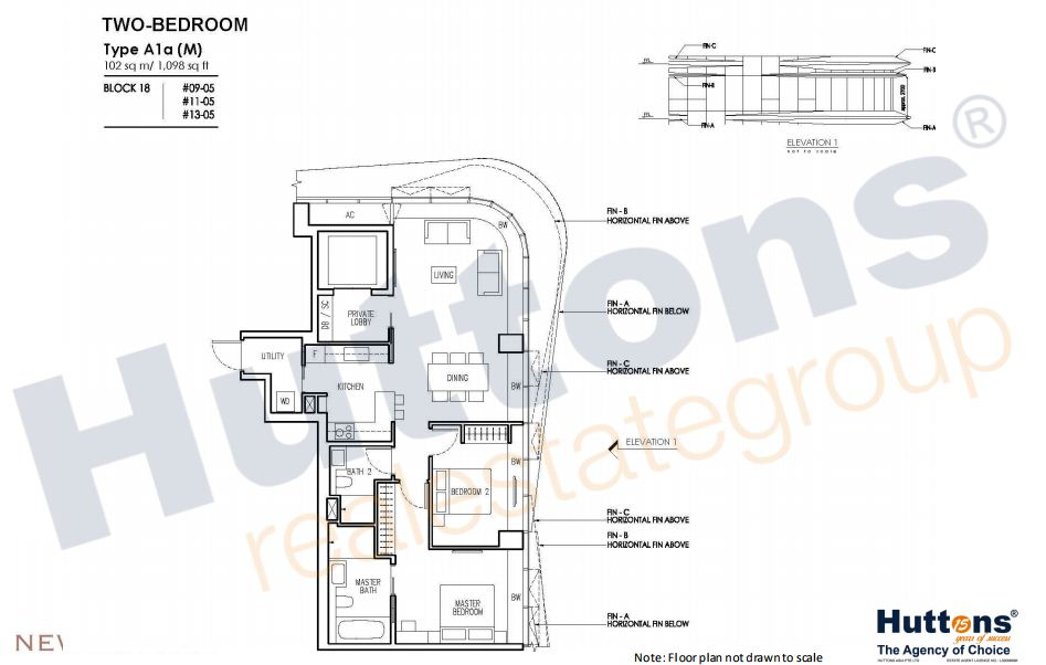 Floor Plan TYpe A1a (M)