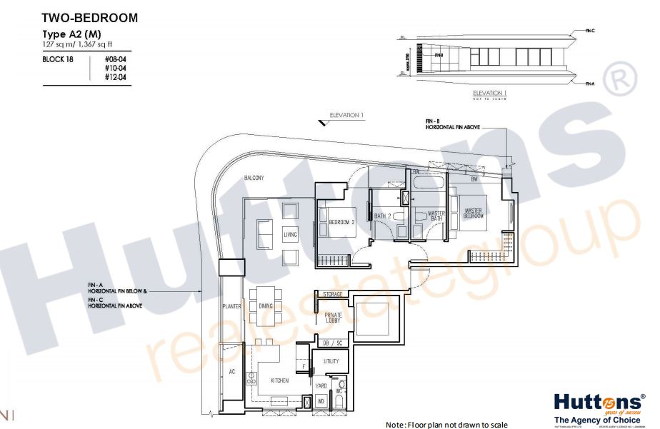 Floor Plan TYpe A2 (M)