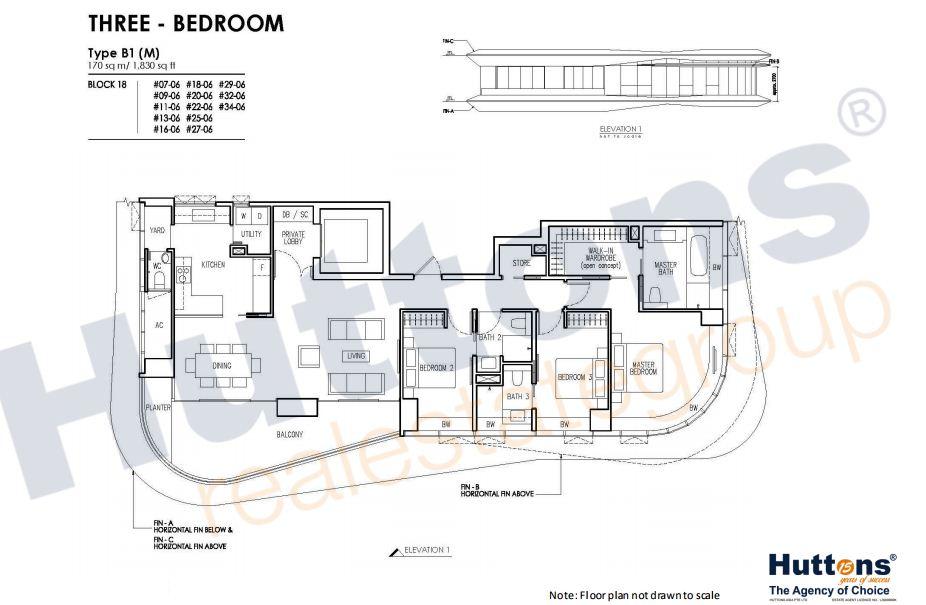 Floor Plan TYpe B1(M)