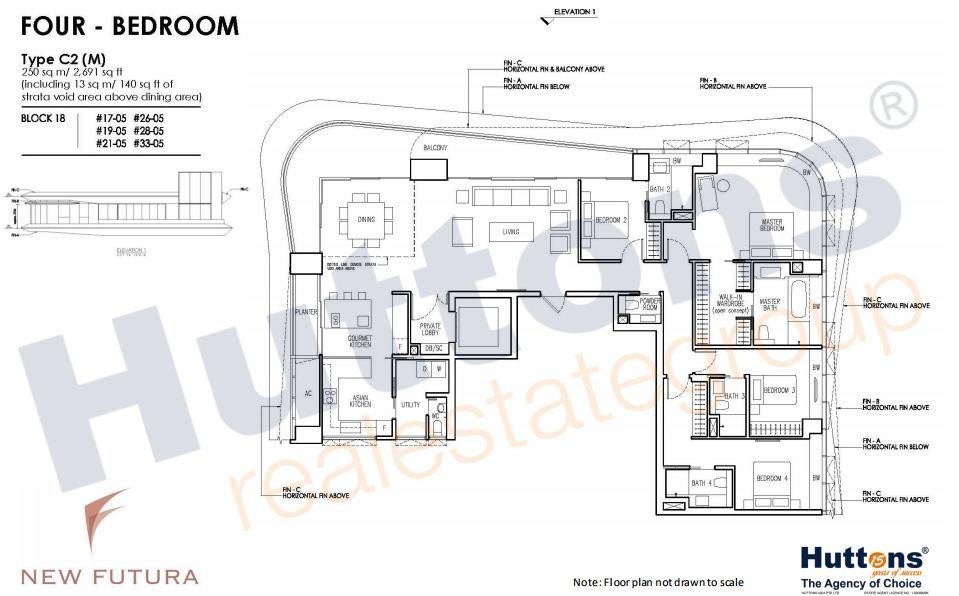 Floor Plan TYpe C2(M)