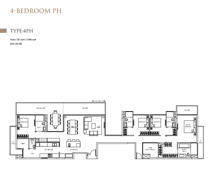 4 Bedroom 4PH Type 4Ph