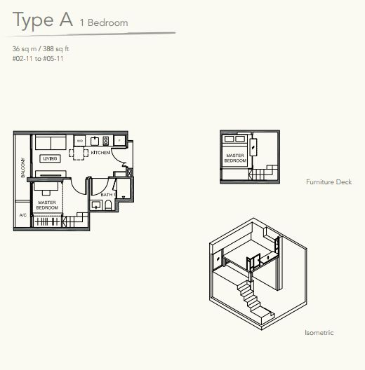 Floor Plan TypeA 1 bedroom