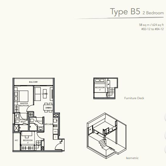 Floor Plan TypeB5 2 bedroom