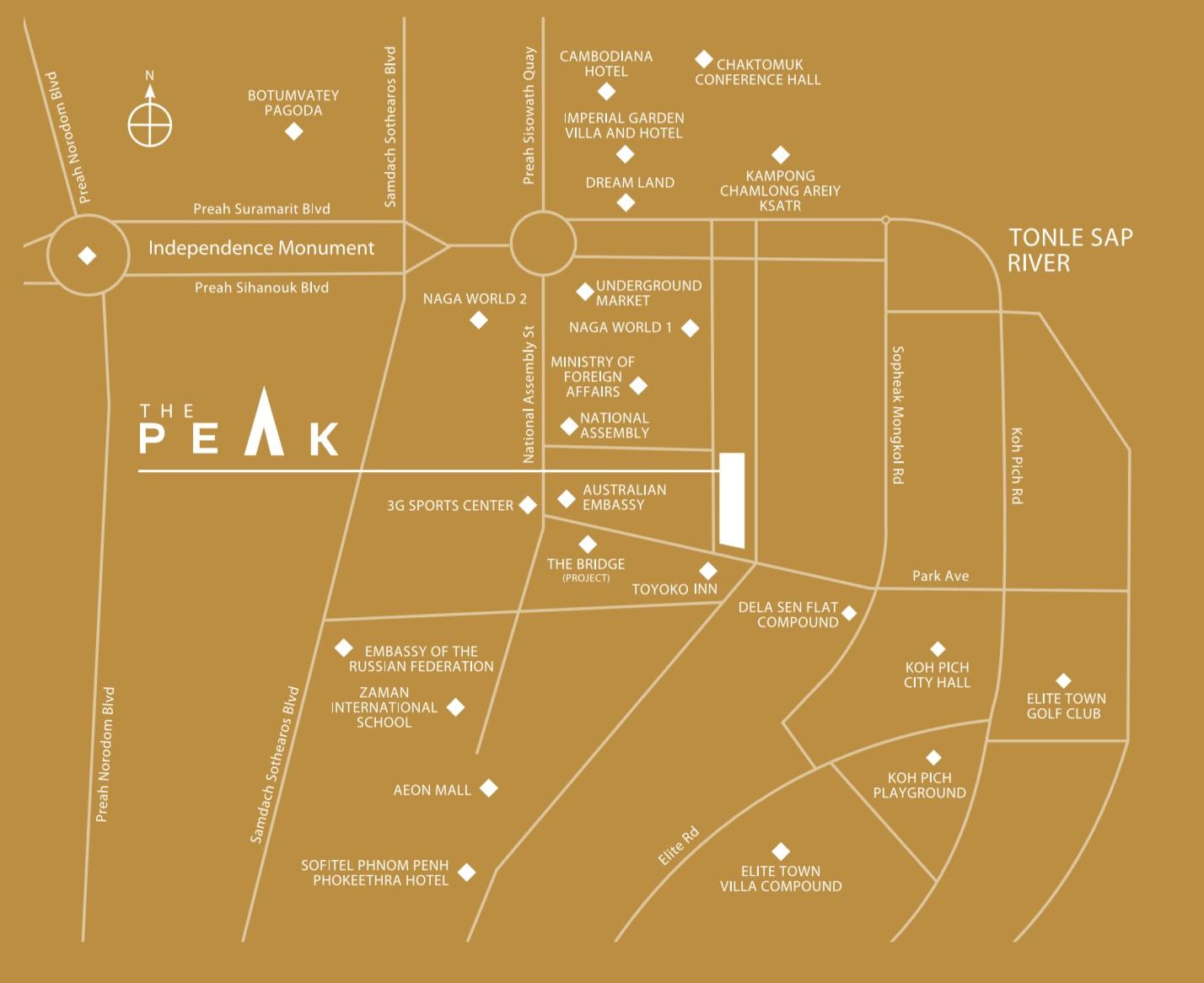Peak Location Map