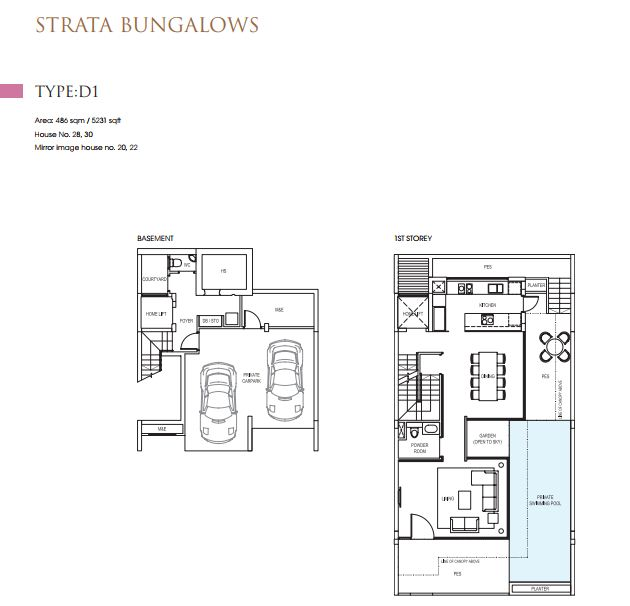 STRATA BUNGALOWS Type D1