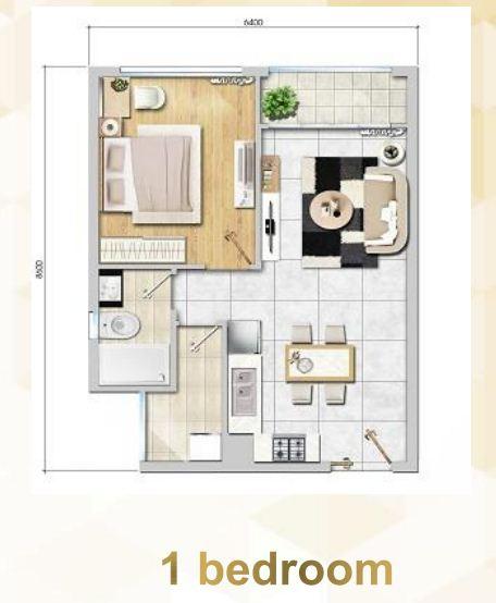Floor Plan : 1 Bed Room