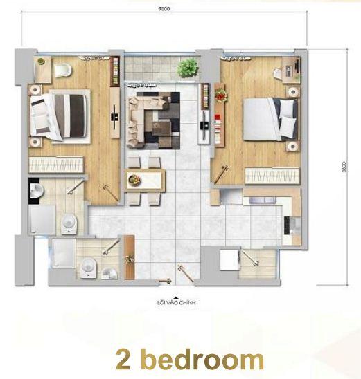 Floor Plan : 2 Bed Room