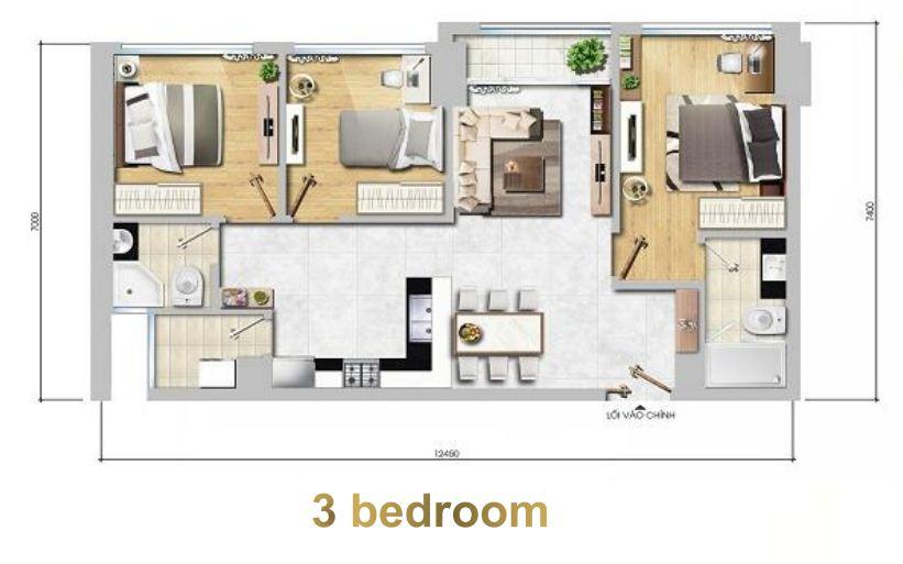 Floor Plan : 3 Bed Room