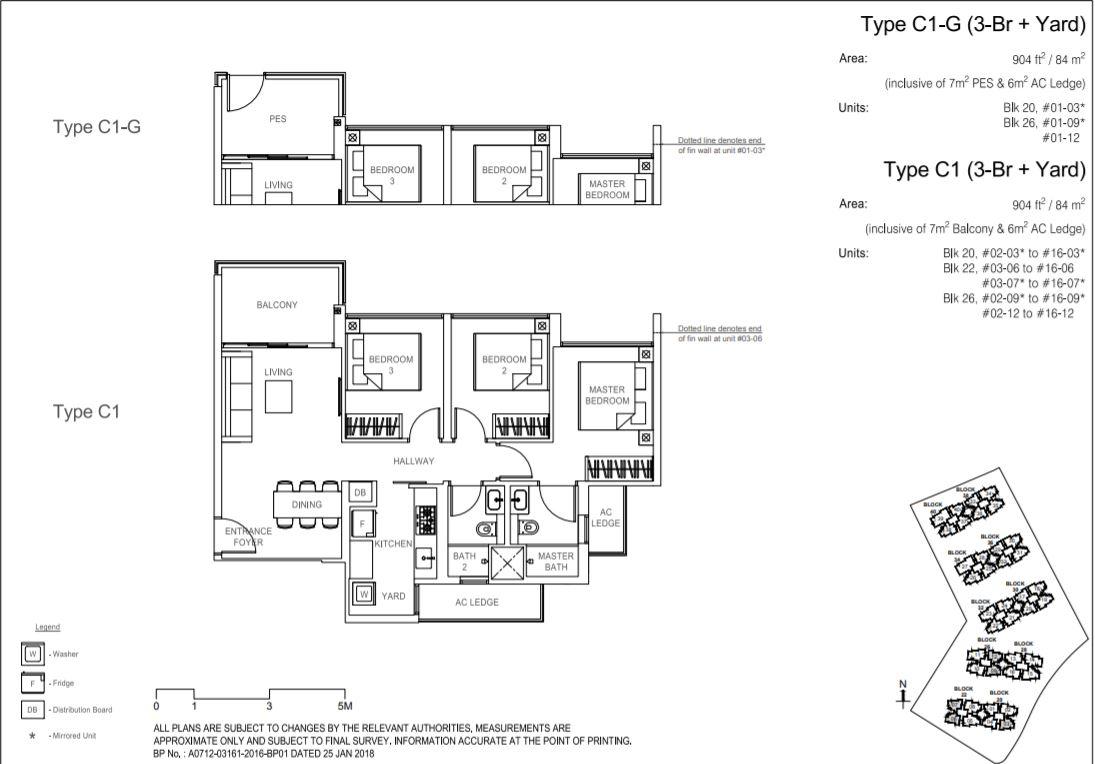 Floor Plan Type C1-G ; Type C1